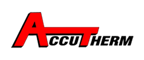 AccuTherm Logo in red and black