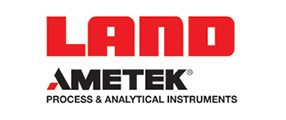 Ametek Land, process and analytical instruments, Logo in red and black