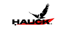 Hauck Burners Logo - black hawk silhouette and red background