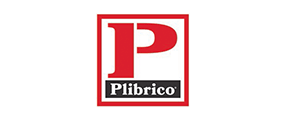 Large red P with Plibrico word Logo in black and red